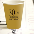 Partypro 780619300868 30Th Golden Birthday Hot Cold Cups