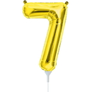 Partypro 00564-01 Inflatable Number Gold Mylar 7