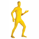Rubie's 880510 2Nd Skin Full Body Suit- Yellow Large