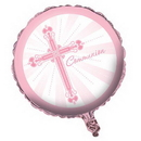 Partypro 040218 Pink Blessings Foil Balloon Communion