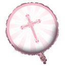 Partypro 042218 Pink Blessings Foil Balloon