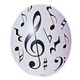 Partypro 360214 Music Note Latex Balloon (Each)