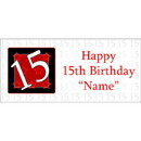 Partypro BANNER-15 Personalized  15 Year Old Banner
