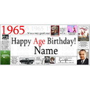 Partypro BANNER-1965 1965 Personalized Banner