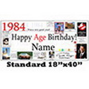 Partypro BANNER-1984 1984 Personalized Banner