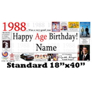 Partypro BANNER-1988 1988 Personalized Banner