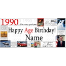Partypro BANNER-1990 1990 Personalized Banner