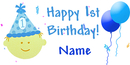PERSONALIZED 1ST BIRTHDAY BOY BANNER