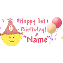 PERSONALIZED 1ST BIRTHDAY GIRL BANNER