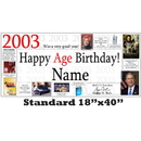 Partypro BANNER-2003 2003 Personalized Banner