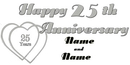 PERSONALIZED 25TH ANNIVERSARY BANNER
