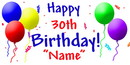 Partypro BANNER-30TH Personalized 30Th Birthday Banner