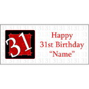 Partypro BANNER-31 Personalized 31 Year Old Banner