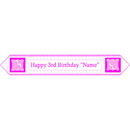 Partypro BANNER-3PINKTB 3Rd Birthday Pink Table Banner