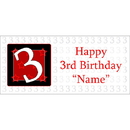 BANNER-3 Personalized  3 Year Old Banner