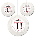Partypro BANNER-ACF1STCS 1St Birthday Custom Fan Decorations