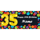Partypro BANNER-B35B Balloon 35Th Birthday Customized Banner