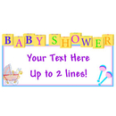PERSONALIZED BABY SHOWER BLOCKS BANNER