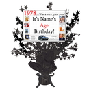 Partypro BANNER-CPB1978 1978 Customized Black Star Centerpiece