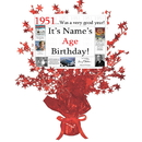 Partypro BANNER-CPR1951 1951 Customized Red Star Centerpiece