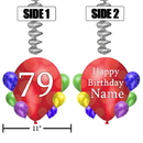 Partypro BANNER-DJBB79 79Th Balloon Blast Jumbo Custom Dangler