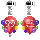 Partypro BANNER-DJBB99 99Th Balloon Blast Jumbo Custom Dangler