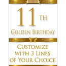 Partypro BANNER-GBD11 11Th Golden Birthday Door Banner