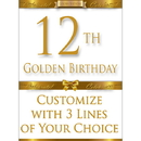 Partypro BANNER-GBD12 12Th Golden Birthday Door Banner