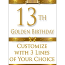 Partypro BANNER-GBD13 13Th Golden Birthday Door Banner