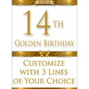 Partypro BANNER-GBD14 14Th Golden Birthday Door Banner