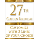 Partypro BANNER-GBD27 27Th Golden Birthday Door Banner
