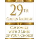 Partypro BANNER-GBD29 29Th Golden Birthday Door Banner