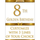 Partypro BANNER-GBD8 8Th Golden Birthday Door Banner