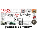 Partypro BANNER-J1933 1933 Jumbo Personalized Banner
