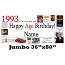 Partypro BANNER-J1993 1993 Jumbo Personalized Banner