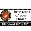 Partypro BANNER-MCORPS Us Marine Corps Banner Standard