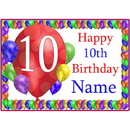 Partypro BANNER-PM10THBB 10Th Balloon Blast Customized Placemat