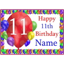 Partypro BANNER-PM11THBB 11Th Balloon Blast Customized Placemat