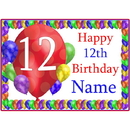 Partypro BANNER-PM12THBB 12Th Balloon Blast Customized Placemat
