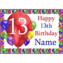 Partypro BANNER-PM13THBB 13Th Balloon Blast Customized Placemat