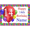 Partypro BANNER-PM14THBB 14Th Balloon Blast Customized Placemat