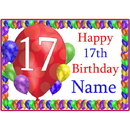 Partypro BANNER-PM17THBB 17Th Balloon Blast Customized Placemat