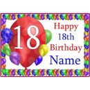 Partypro BANNER-PM18THBB 18Th Balloon Blast Customized Placemat