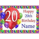 Partypro BANNER-PM20THBB 20Th Balloon Blast Customized  Placemat