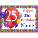 Partypro BANNER-PM25THBB 25Th Balloon Blast Customized Placemat