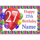 Partypro BANNER-PM27THBB 27Th Balloon Blast Customized Placemat