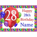 Partypro BANNER-PM28THBB 28Th Balloon Blast Customized Placemat