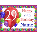 Partypro BANNER-PM29THBB 29Th Balloon Blast Customized Placemat