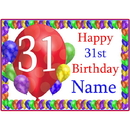 Partypro BANNER-PM31STBB 31St Balloon Blast Customized Placemat