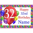 Partypro BANNER-PM32NDBB 32Nd Balloon Blast Customized Placemat